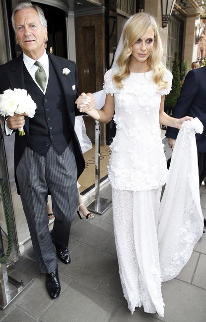 Poppy Delevigne in Haute Couture Chanel
