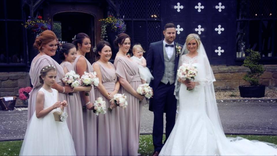 bespoke custom-made vintage inspired blush pink bridesmaids & flower girl dresses. BY Jessica Bennett Bespoke Bride.