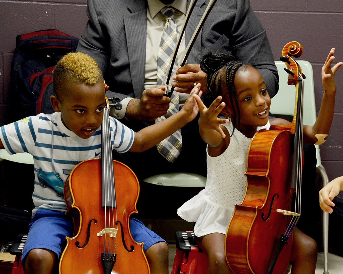 String Sprouts - String Sprouts provides music education opportunities at no cost to families. At Highlander, violin classes are offered from throughout the school year.
