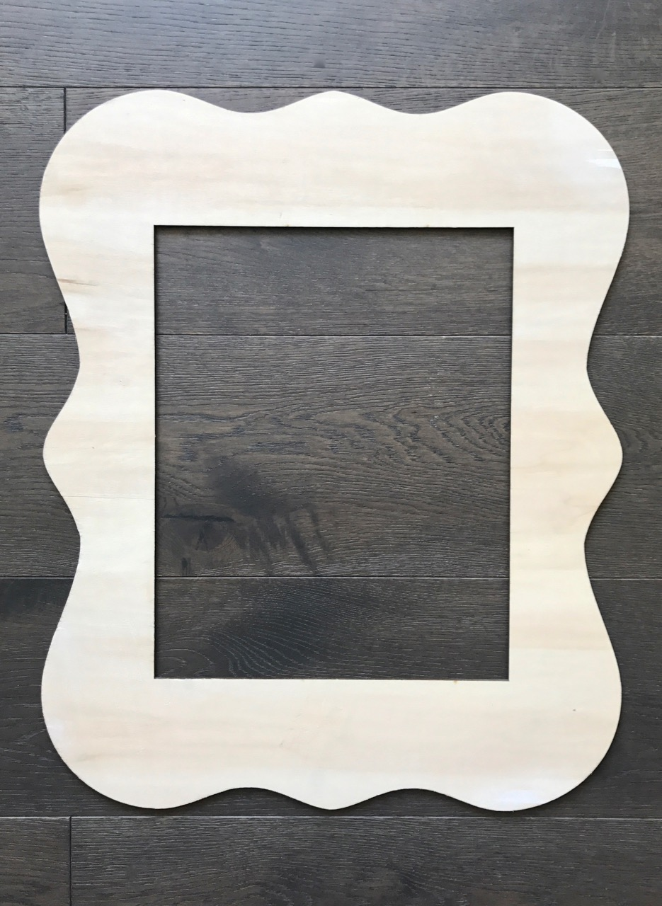 $10 - 10.75 inches by 13.75 inches middle insert - 10 available I love using these ones to frame around a letter, or an object. Price includes being painted or stained a colour to match your decor