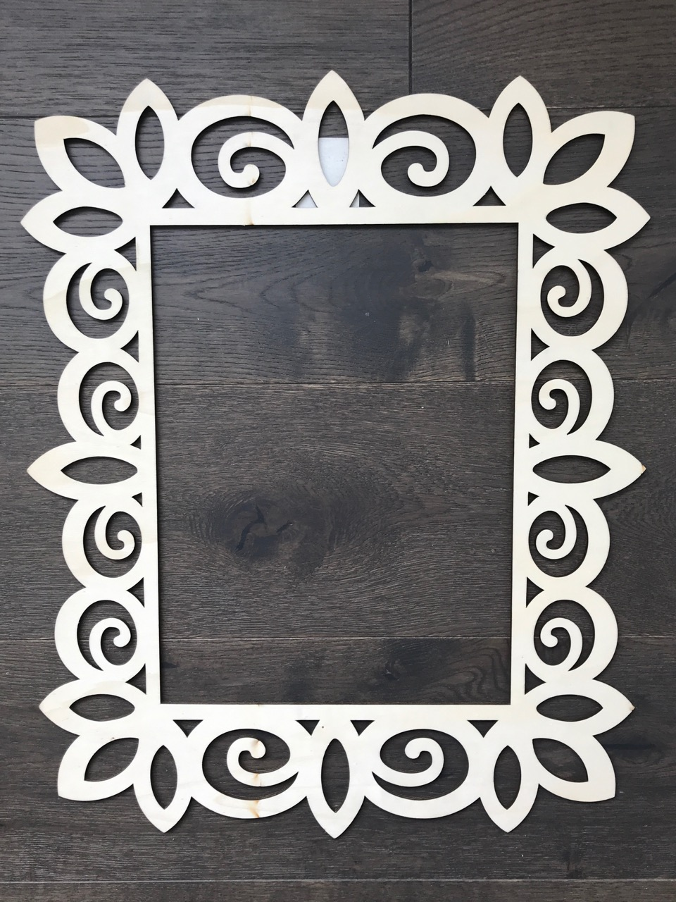 $10 - 10.75 inches by 13.75 inches middle insert - 2 available I love using these ones to frame around a letter, or an object. Price includes being painted or stained a colour to match your decor
