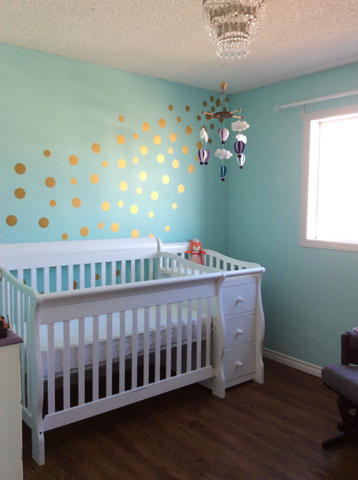 Gold Dots with Crib.jpg