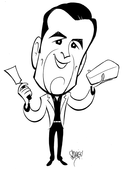 Caricature of Ty Burrell for the movie   Butter  .