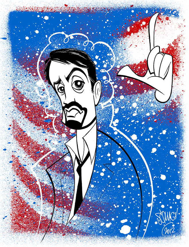 Lin-Manuel Miranda drawn after the Jazz at Lincoln Center American Songbook presentation in 2012.