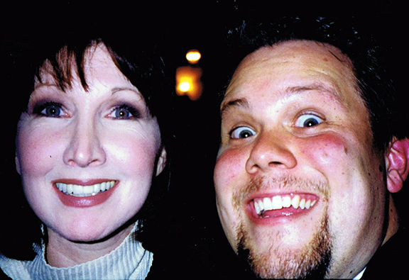 "The amazing Joanna Gleason and me. In one of my very first selfies, I hadn't quite learned the ""pleasant face"" but opted for the ""enthusiastic stalker face."""