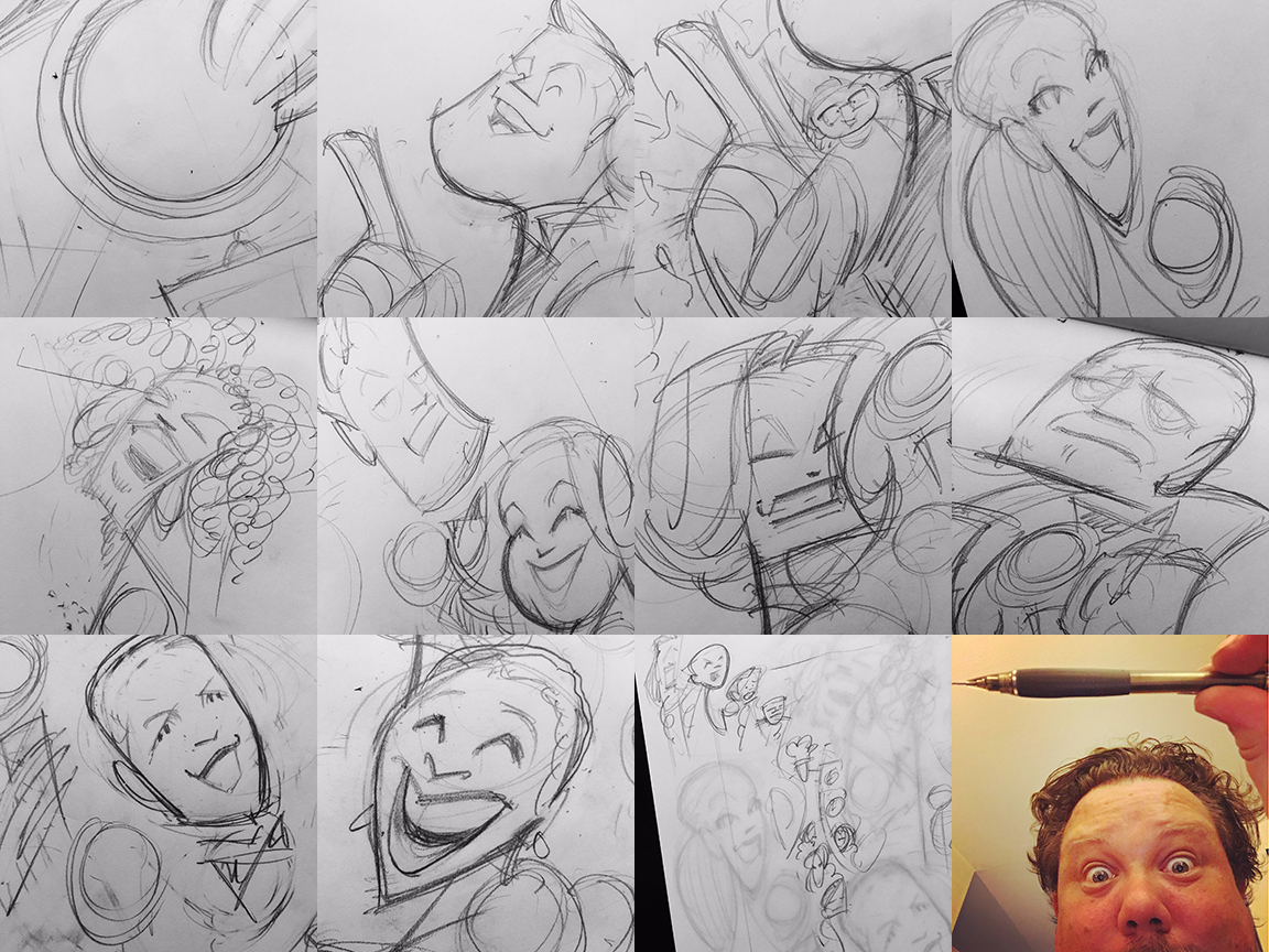 Instagram posts of real time rough sketching.