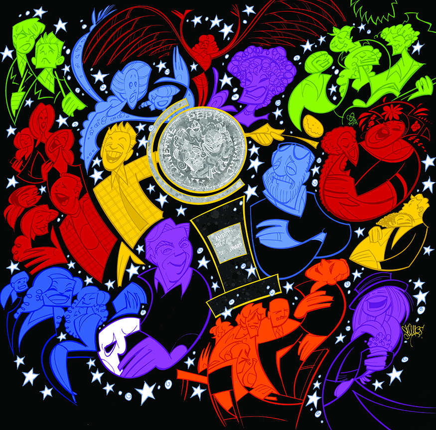 An alternate version of the cover illustration, used inside the CD booklet.
