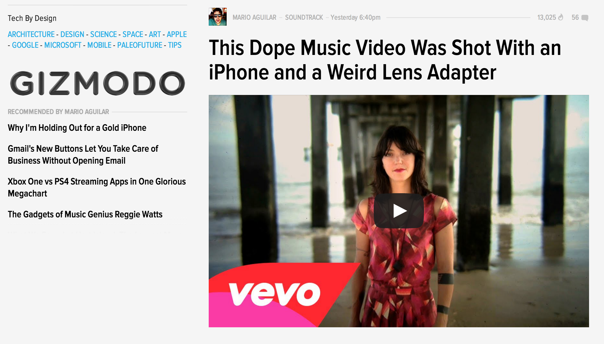 Gizmodo featuring our iPhone SLR Kit