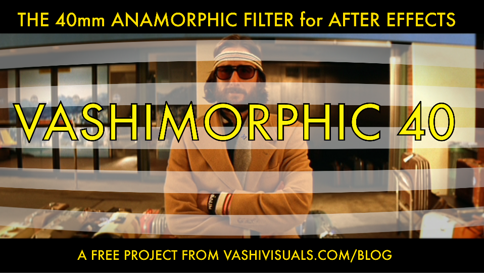 Anamorphic lens effects are subtle, but recognizable when you see it. Using a CineMorph filter and the Vashimorphic Filter for AE will give you some very convincing looks.