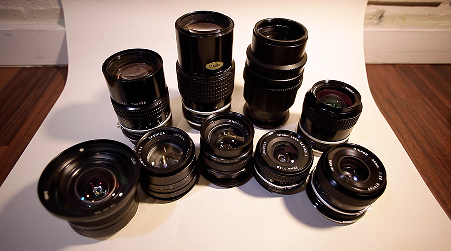 Anamorphic Friendly SLR lenses tend to be portrait range focal lengths, have smaller front elements and faster/wider apertures.