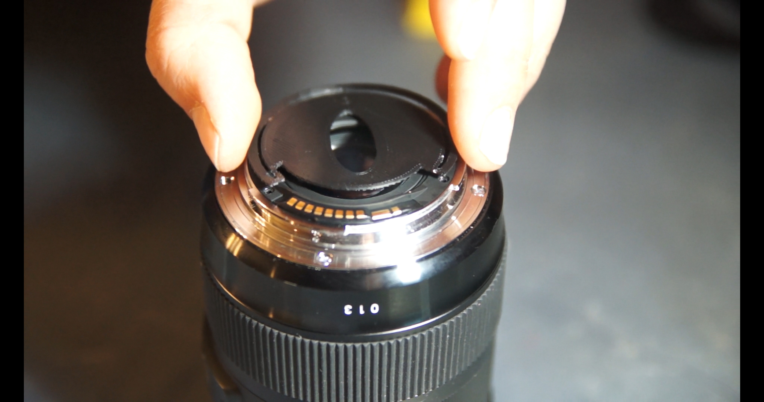 Position the CineMorph Mod Filter.