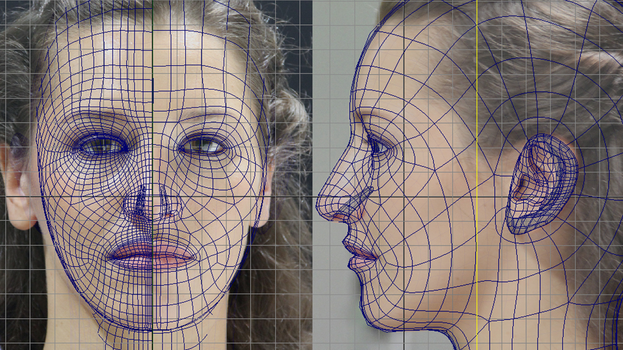 Athena Face modeling with Wireframe