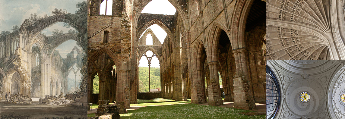 Building Structure Reference: inspired by William Turner's  Tintern Abbey