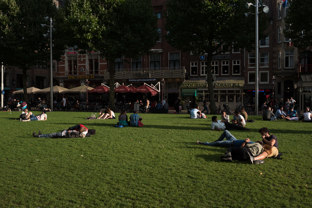 Here people visit the coffeeshops and smoke a spliff while they lay out on the lawn.