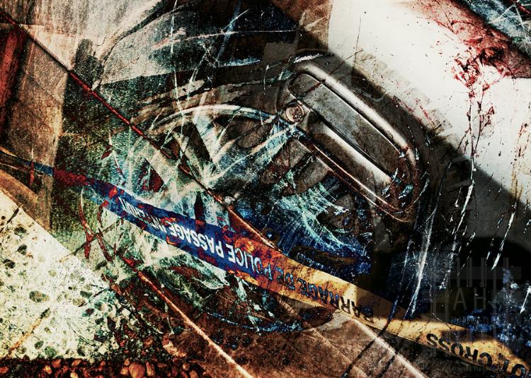 """Crash"" - A New Digital Collage - April 2014"