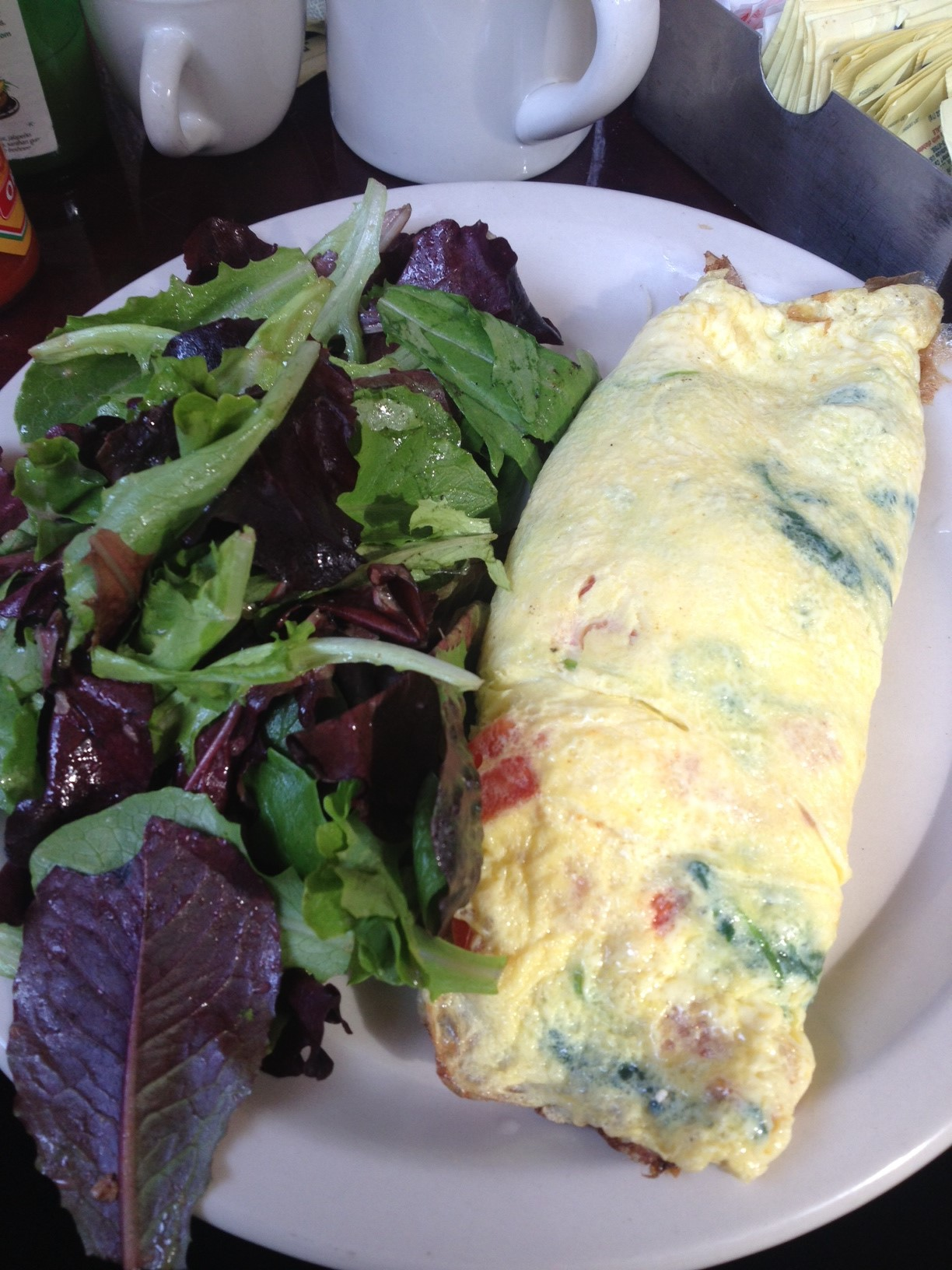 The Omelette - Spinach, Tomato, Sheep's Milk Cheese