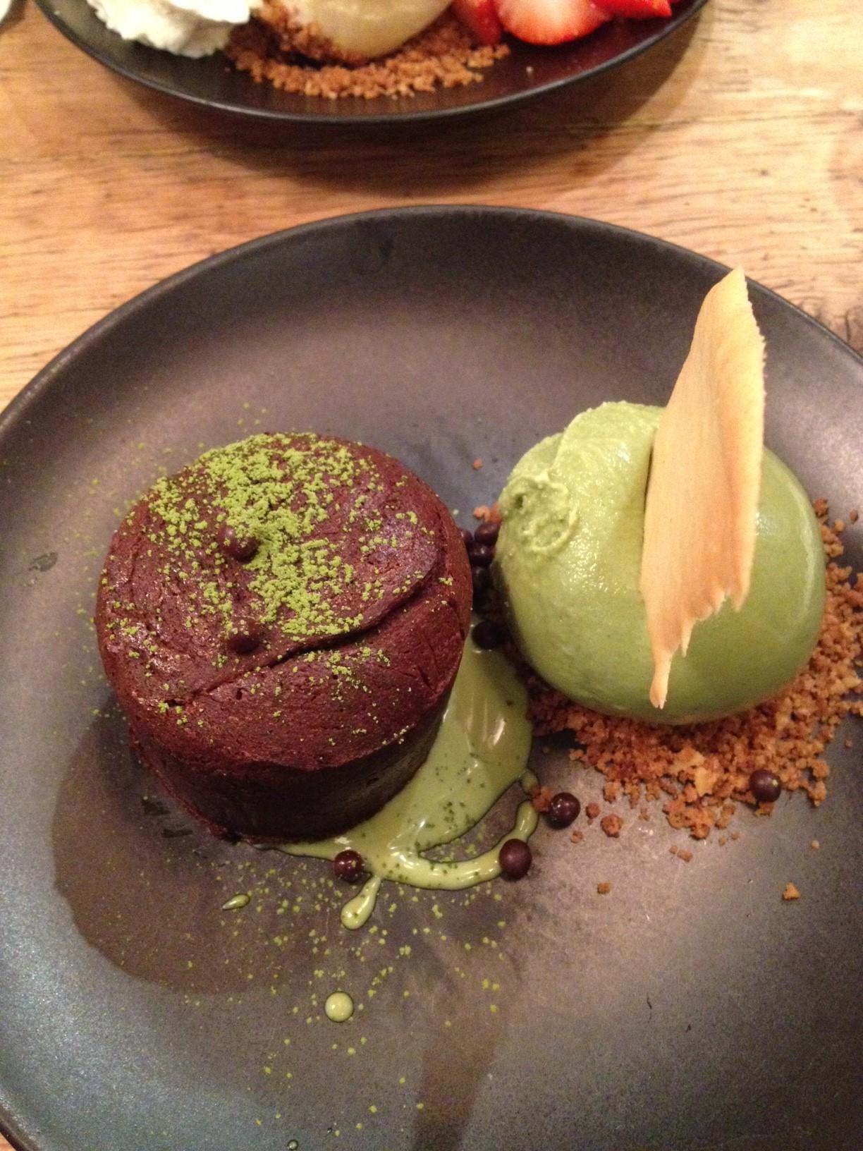 Chocolate Green Tea Lava Cake