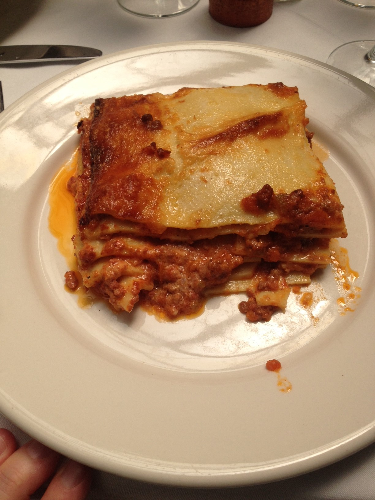 Lasagna al Forno with Homemade Pasta, Bolognese and Bechamel