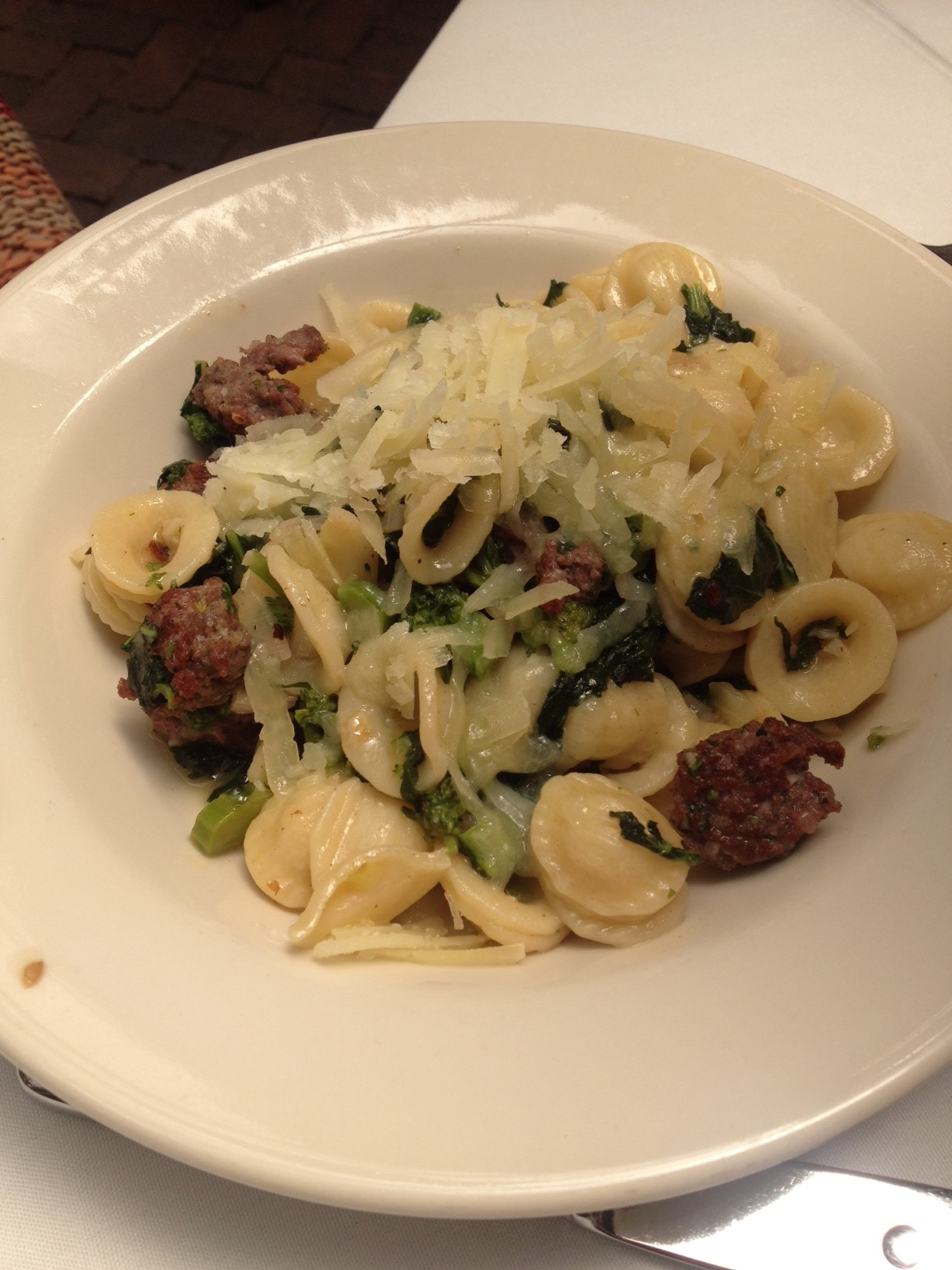 Orecchiette with Broccoli Rabe and Boar Sausage