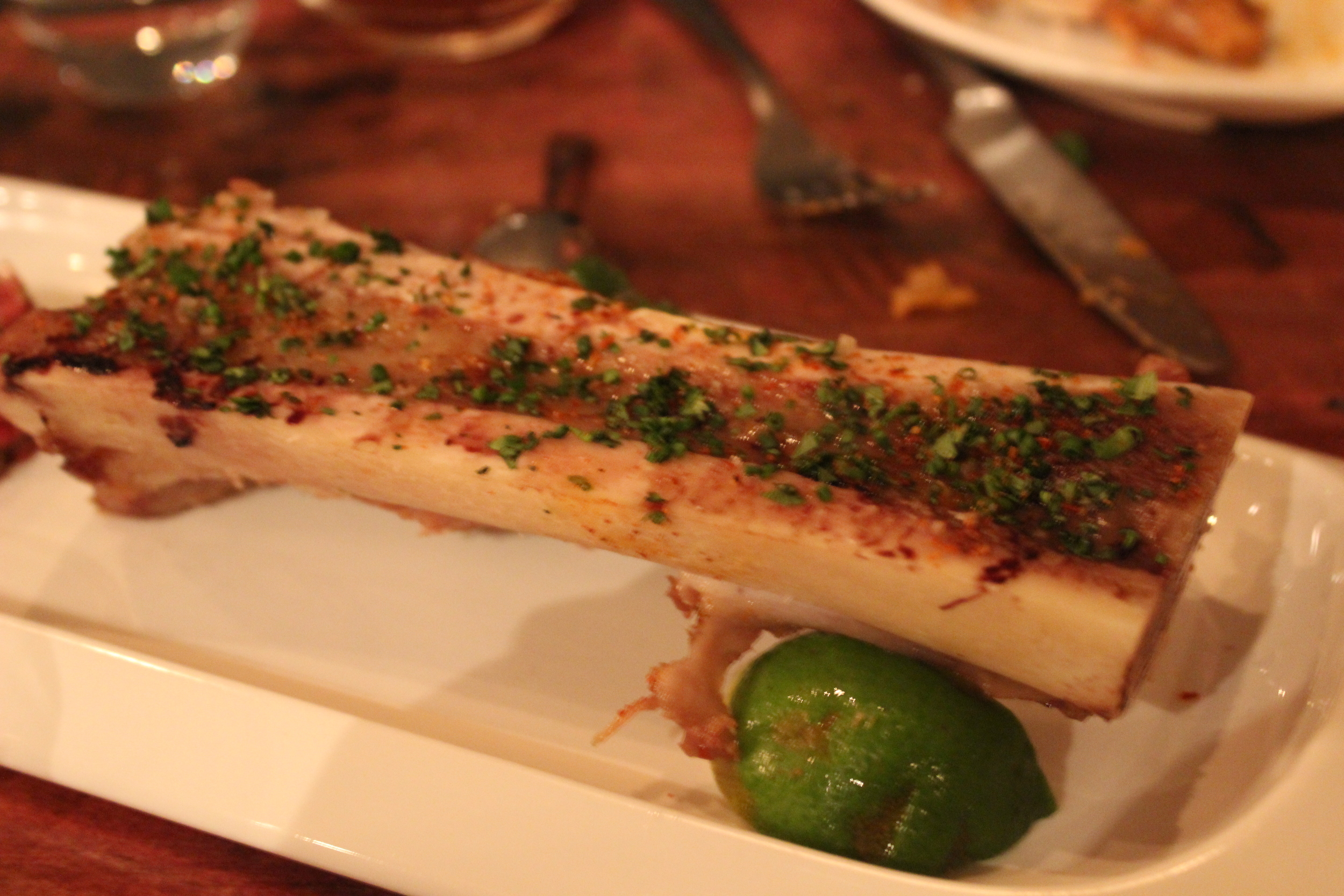 Course 8: Roasted Bone Marrow with Steak Tartare