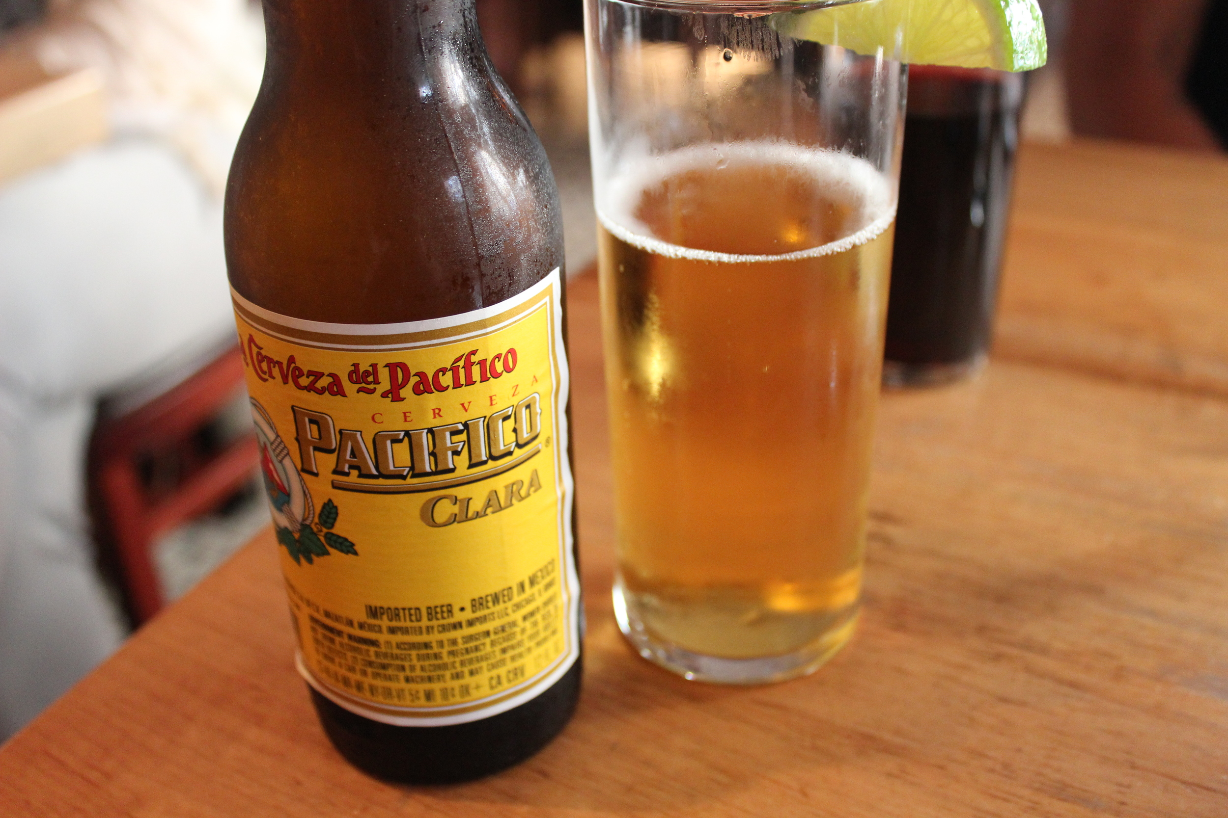 They were out of Peroni, so I had to go with Pacifico