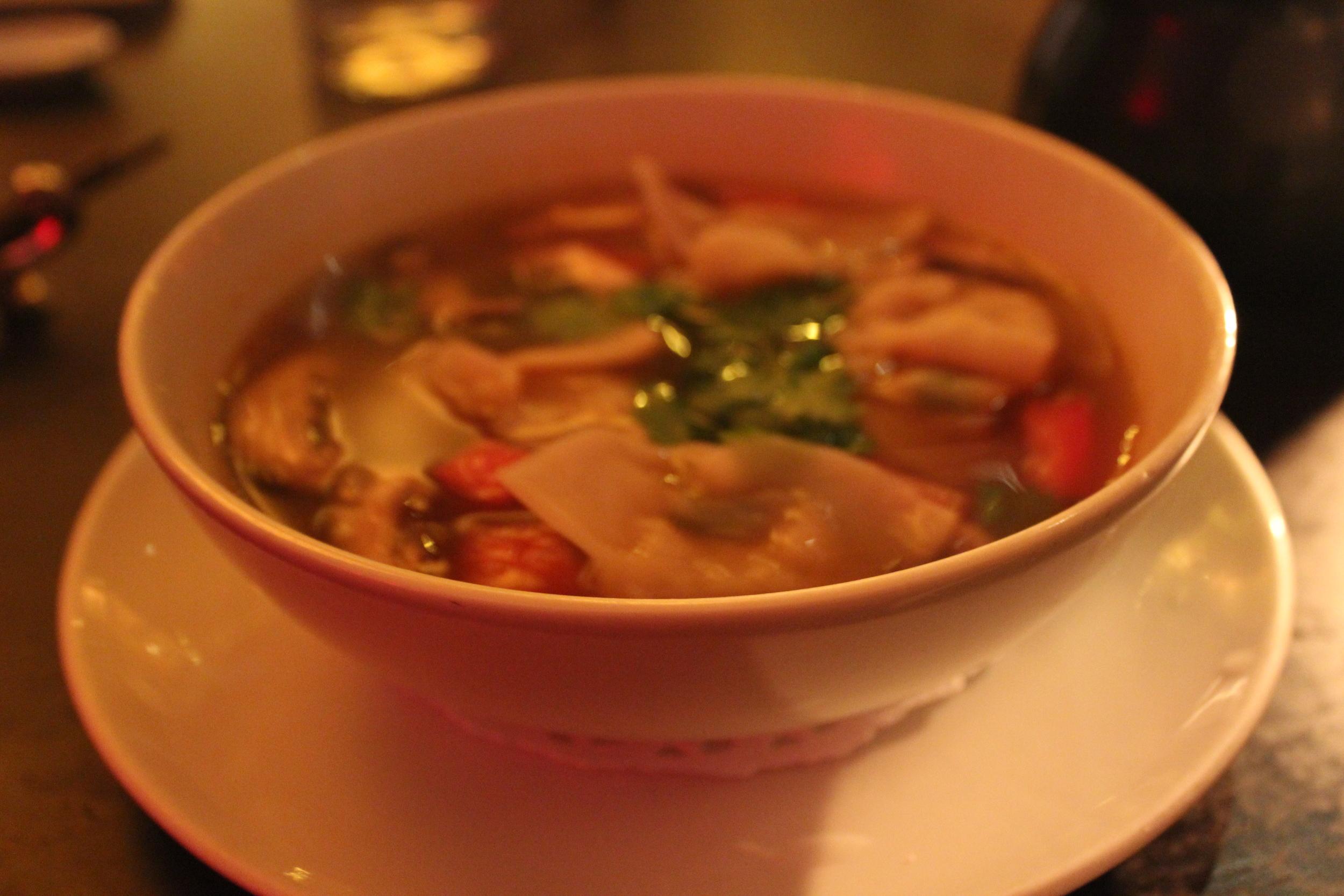 Spicy Thai Seafood Dumpling Soup