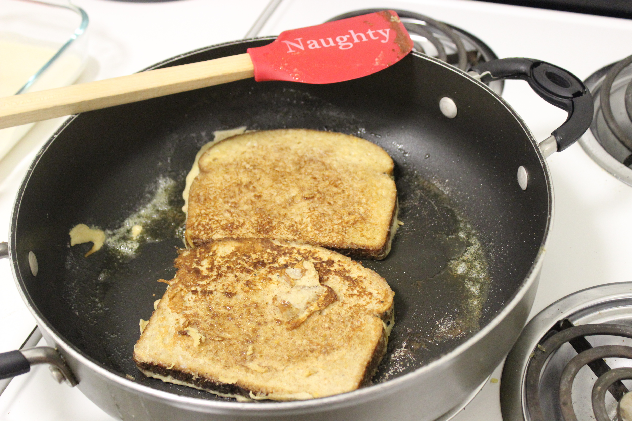 The spatula makes the French Toast taste better
