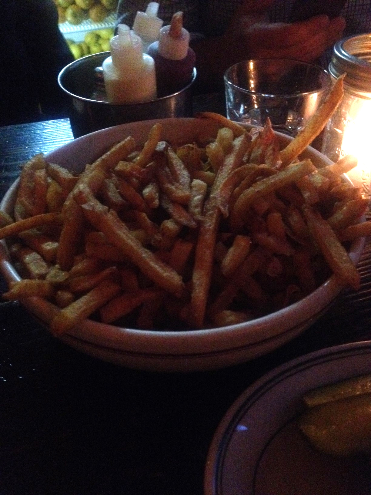 House Fries with House Ketchup, House Mayo and Big Dill Pickle Brine