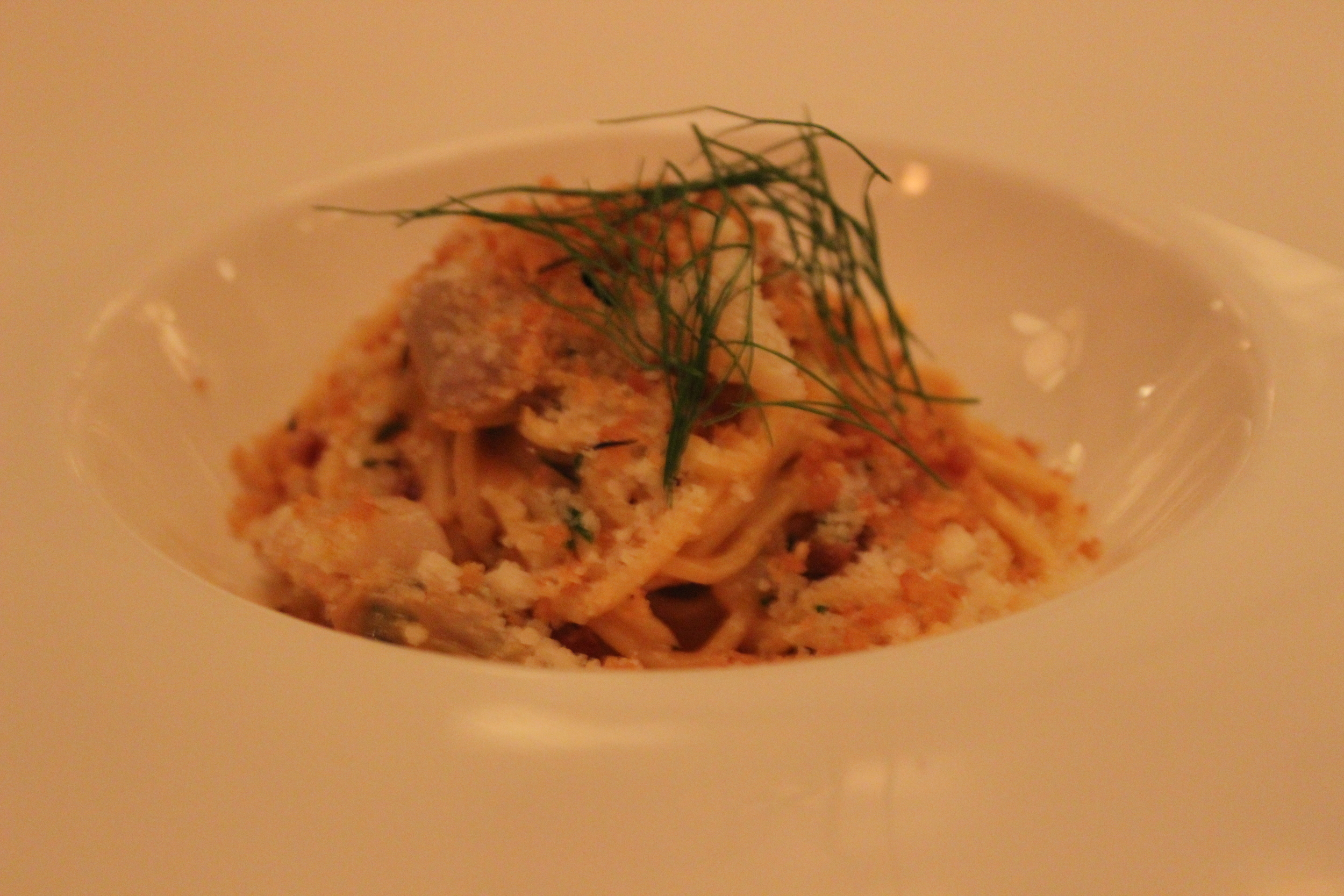 Spaghetti & Clams, Bisque, Guanciale, Fennel