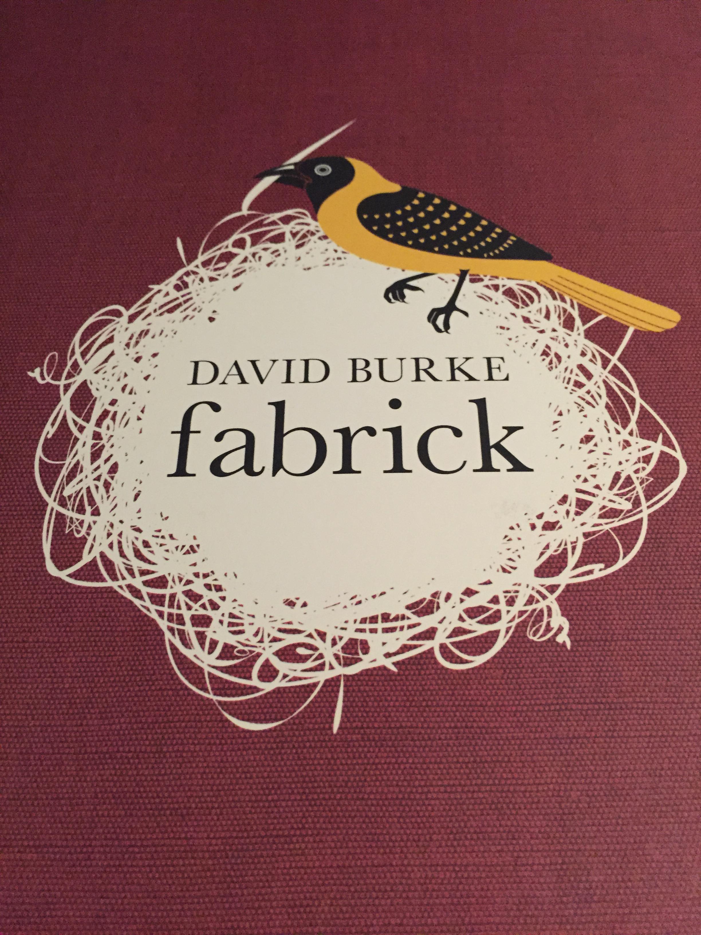 The menu has FABRIC - get it?