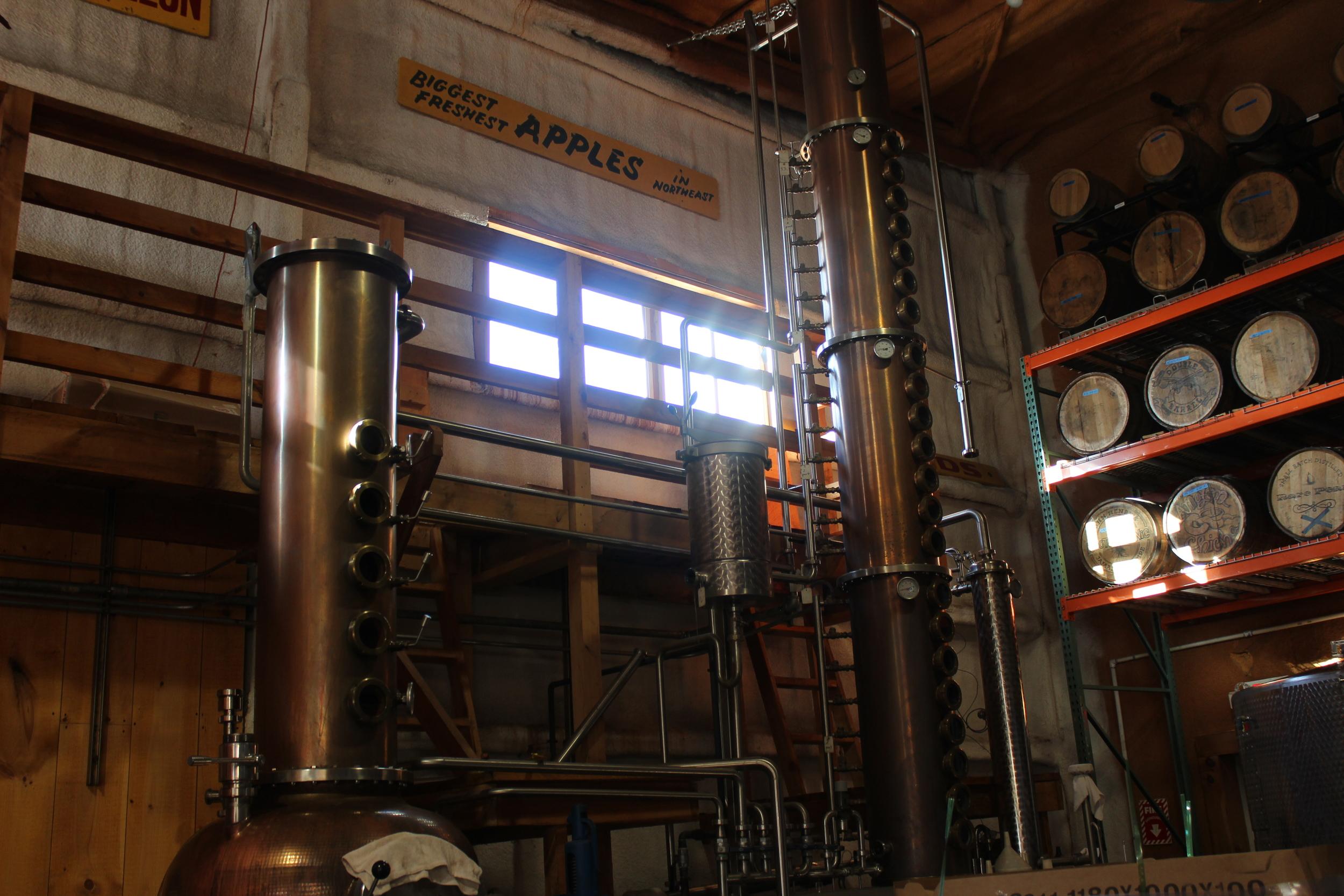 Inside the Distillery!