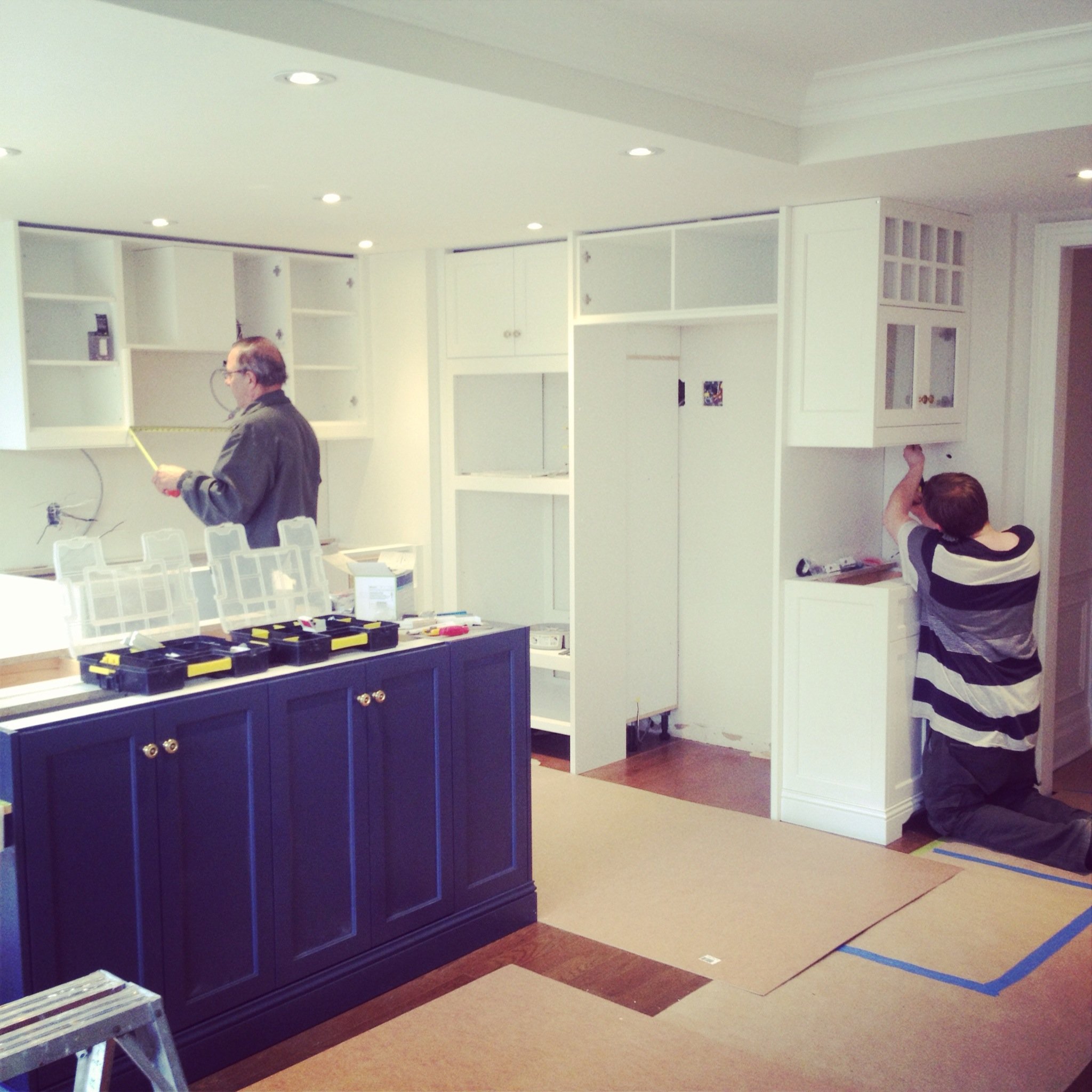The kitchen coming together this week!