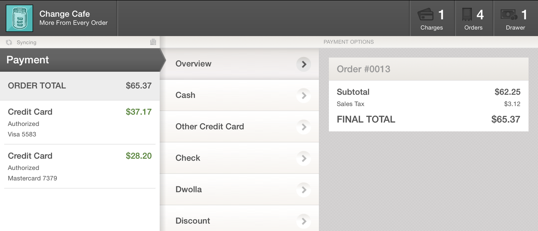 Authorizing Multiple Credit Cards