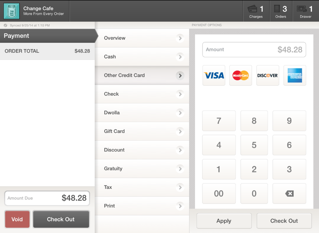 Other Credit Card Payment Label