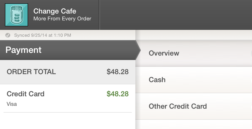 Applied Credit Card Payment