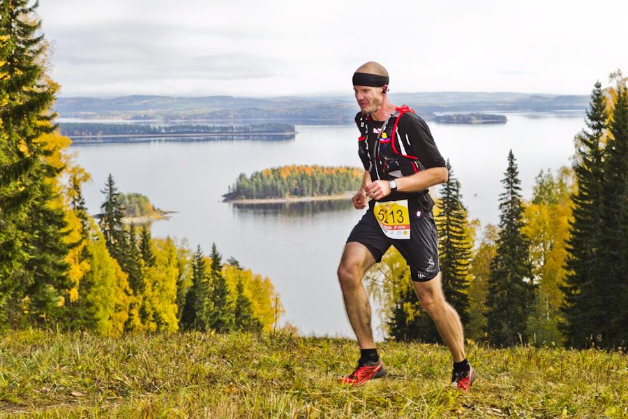 Vaarojen Maraton Kolilla 2014. M  iesten 43 kilometrin kolmanneksi sijoittui Jussi Jalkanen. © Sanomalehti Karjalainen
