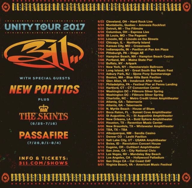 check out 311 on one of their upcoming tour dates listed above.