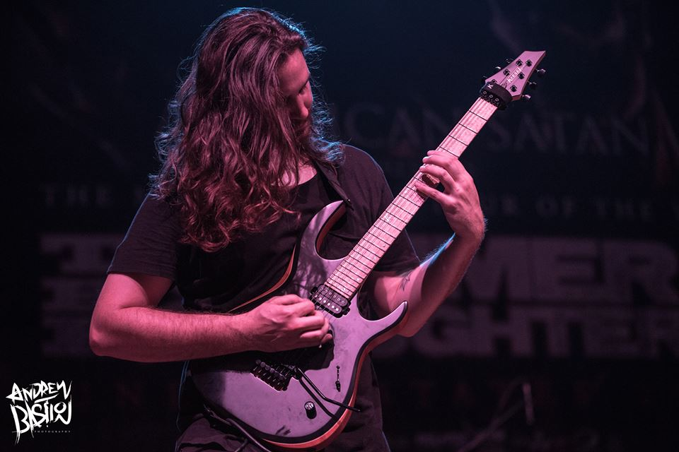Justin McKinney of The Faceless at Cleveland's Agora Theatre, Summer Slaughter 8/26/17