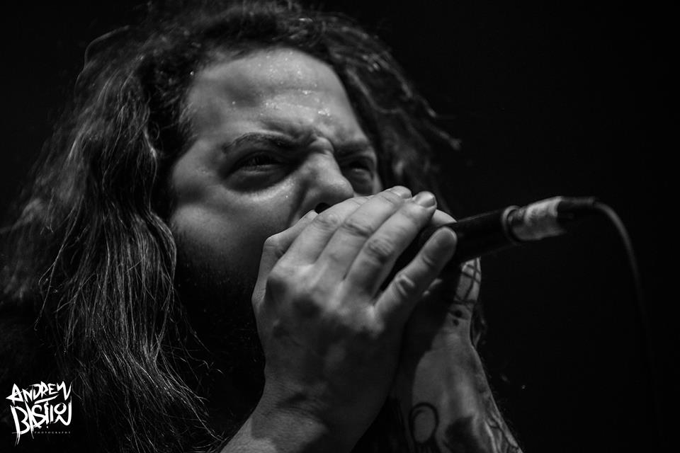 Ken Sorceron of The Faceless at Cleveland's Agora Theatre, Summer Slaughter 8/26/17