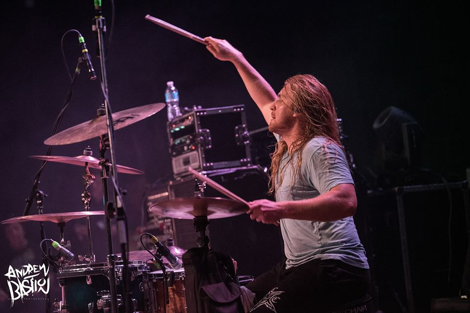 Aaron Stechnauner of Rings of Saturn Summer Slaughter Tour 8-26-2017