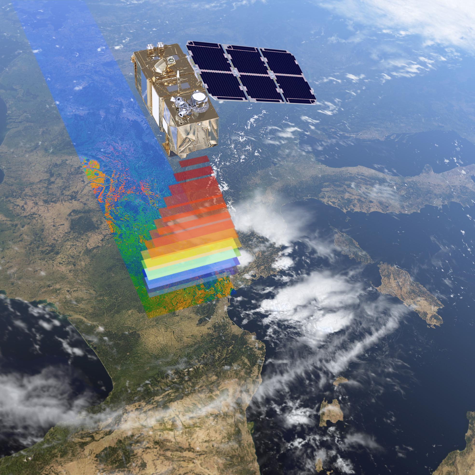ESA Sentinel2 earth observation satellite - Buzzard Cameras