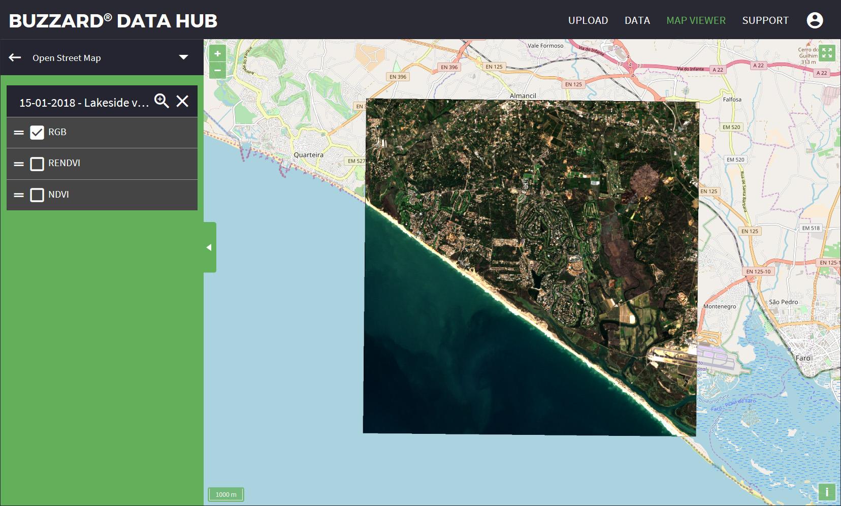 Buzzard Data Hub Map Viewer