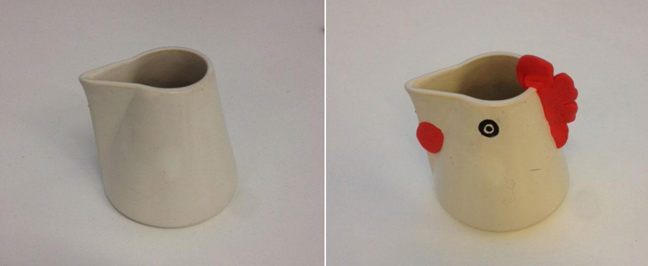 Franca's modernist cockerel milk jug