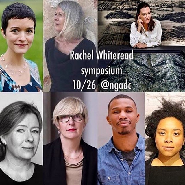 Exciting things are happening! This Friday, October 26th at 10:30am, I'll be speaking as part of the Rachel Whiteread Symposium at the National Gallery of Art along with artists Cristina Iglesias, Ada Pinkston & Tariq O'Meally and scholars Lynne Cooke, Molly Donovan, Mari Lending & Helen Molesworth. The event is free & open to the public - would love to see you there!