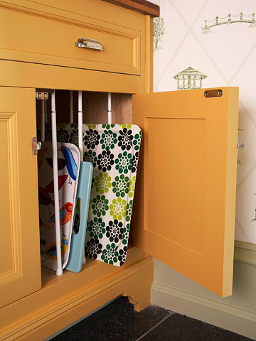 Cabinet Divider for trays, cookie sheets, and more from  BHG