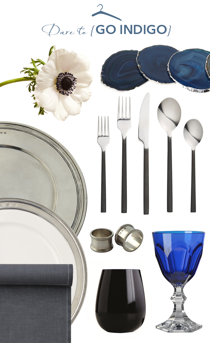 Plate & Charger:  Jungleenyc.com , Napkin Rings:  Didricks ,Linen Dinner Napkin Roll:  Jungleenyc.com , Flatware:  CB2.com , Agate Coasters:  Barneys , Water Goblet:  Jungleenyc.com , Flowers: White Anemone