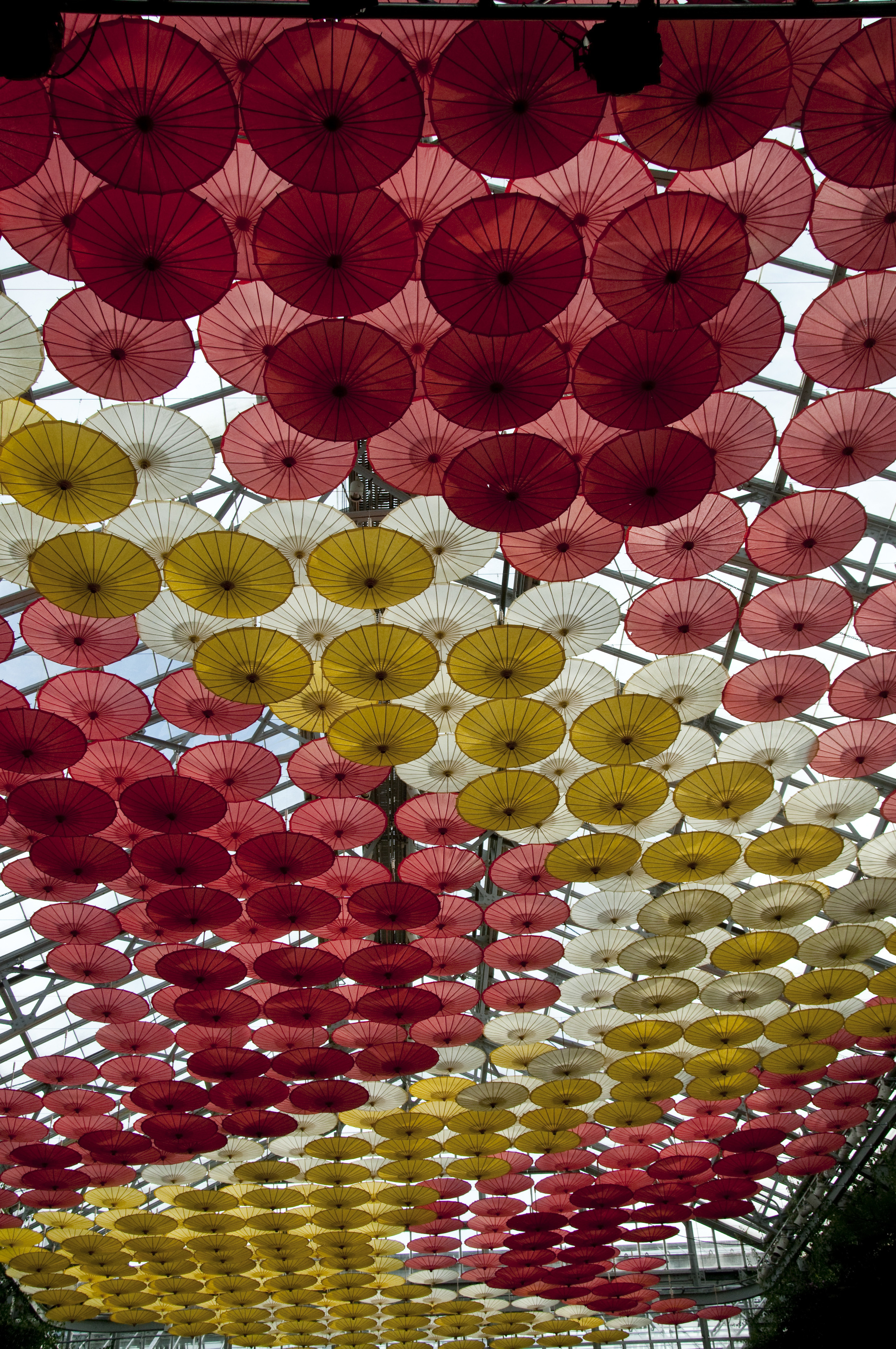 Longwood Gardens umbrella ceiling