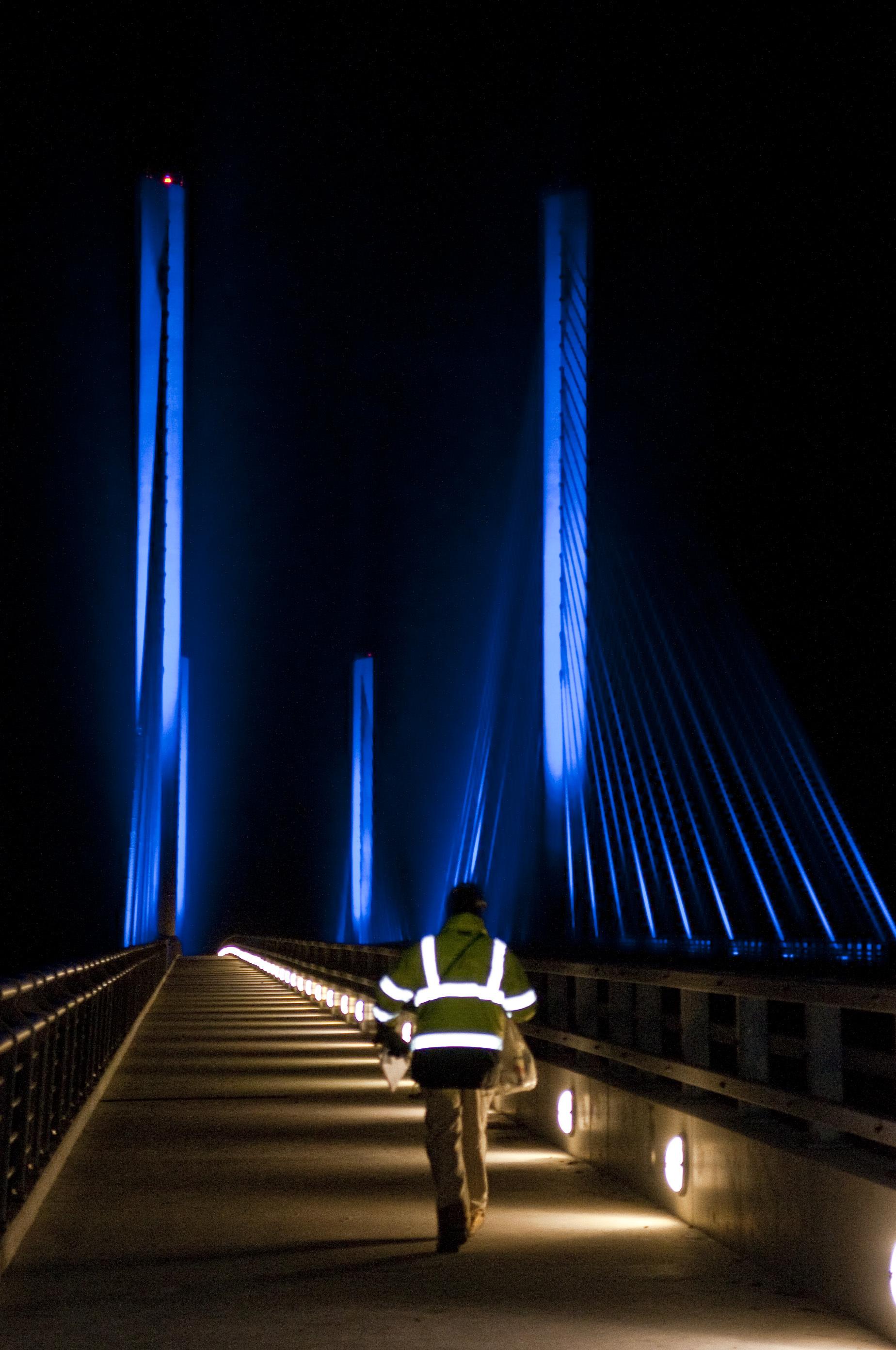 Indian River Inlet Bridge at night