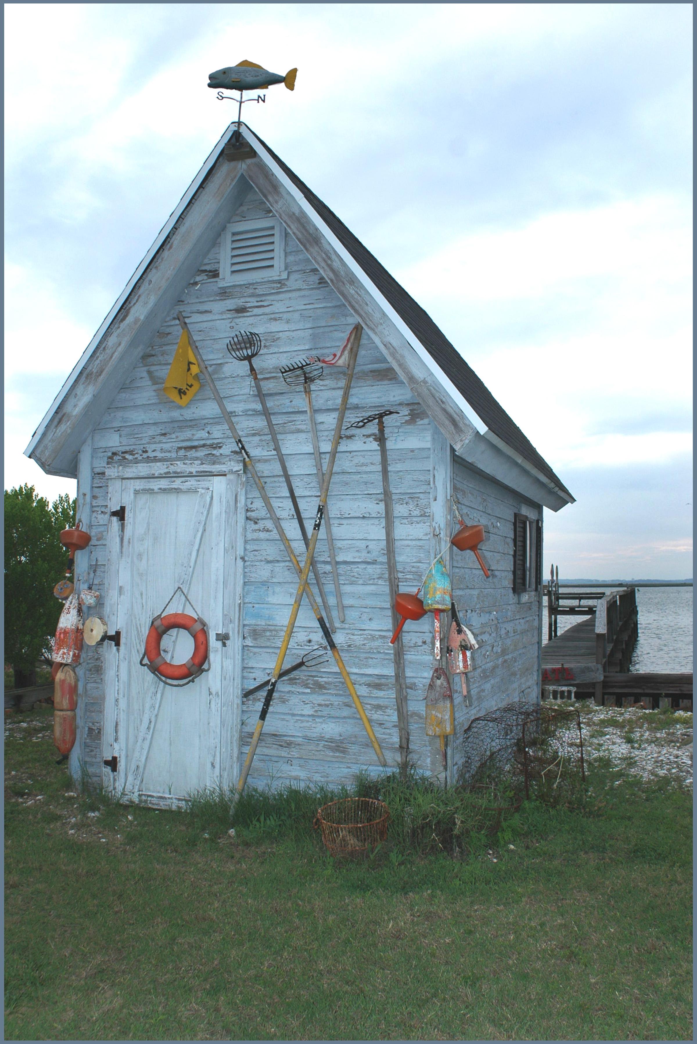 fisherman shack Chicoteague, Va.