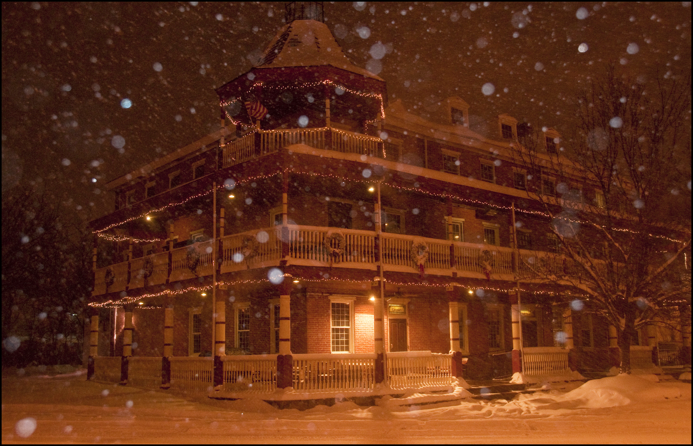 Deerpark Tavern in the snow